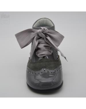 Bota de vestir gris