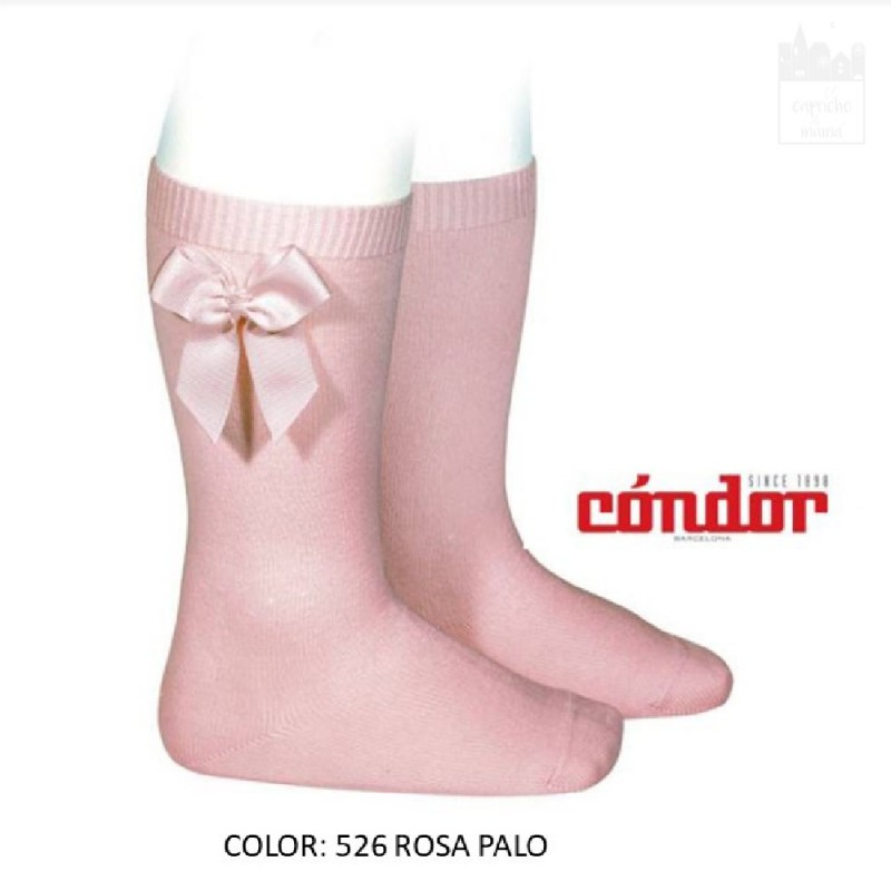 CALCETINES ALTOS CONDOR DE ALGODÓN CON LAZO LATERAL