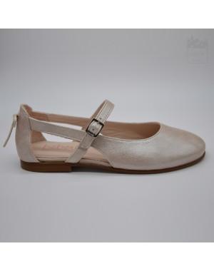 Zapato niña ceremonia rosa empolvado