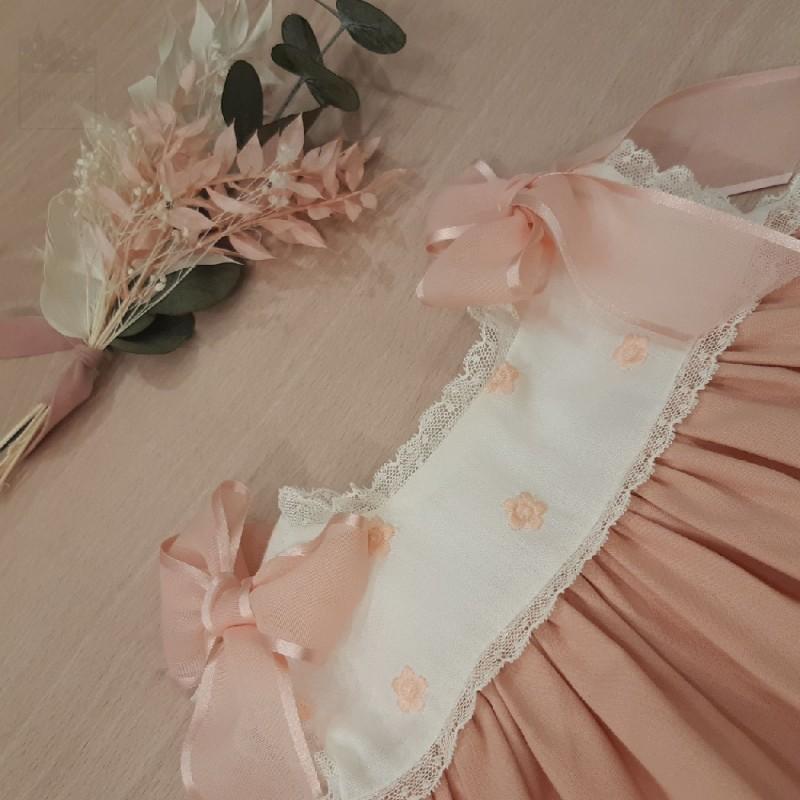 Vestido muselina bordado Valentina