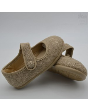 Zapatilla mercedes de lino