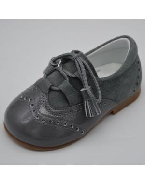 Zapato tipo gales unisex gris ceniza