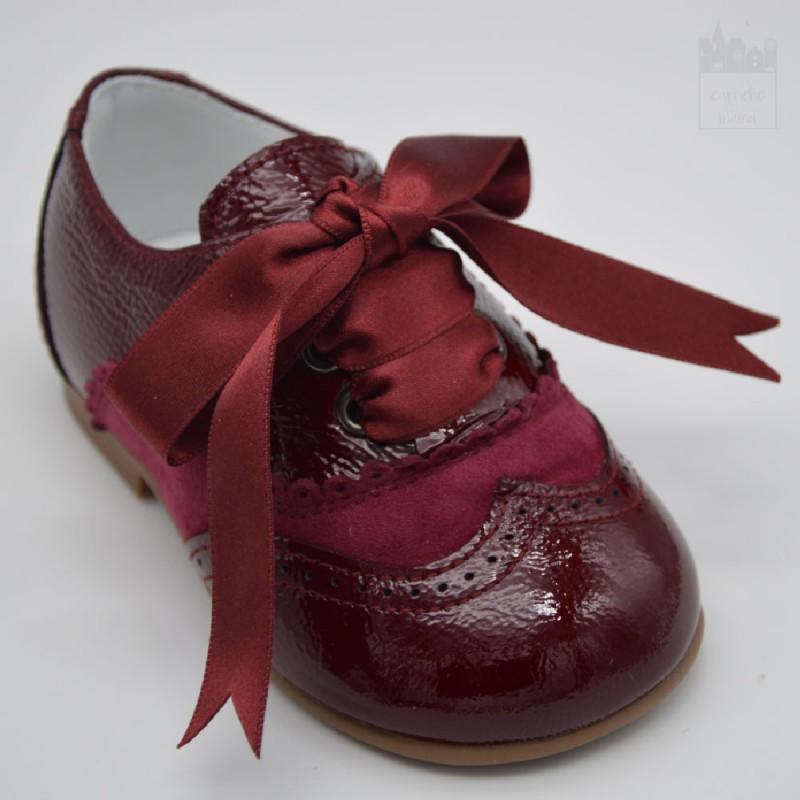 Zapato blutcher burdeos